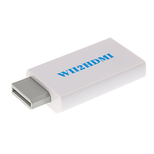 Tendak Wii to HDMI Converter Output Video Audio Adapter - Supports All Wii Display Modes to 720P / 1080P HDTV & Monitor