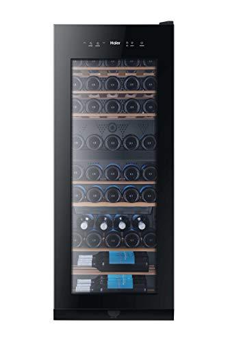 Haier WS53GDA Cantinetta Vino Doppia Temperatura, 53 Bottiglie, Luci a LED e Vetro anti UV, Ripiani in Legno,...