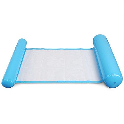 Vap26 - Amaca galleggiante per adulti, per piscina, lettino, in PVC, reclinabile, estiva, colore: blu