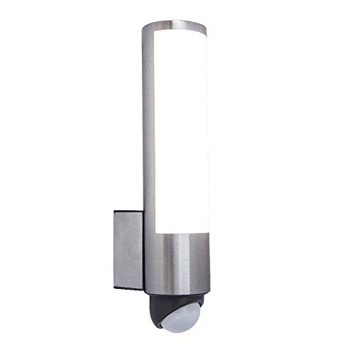 Lutec Tube Square 3.7 W Exterior DEL Up and Down Wall Light dans Stainless Steel