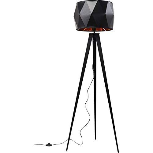 Kare Design Stehleuchte Triangle Tripod Matt Black, Stehlampe Retro, Stehlampe modern, schwarz, (H/B/T)156x53,5x45cm