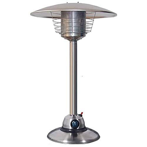 DFJU Calentador de Gas de Mesa para Patio, Quemador doméstico portátil de Acero Inoxidable para Exteriores, Botella de Gas propano o butano de Baja energía, para cenador, jardín, Camping
