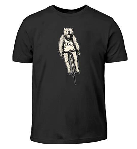 Camiseta infantil de BŠr & Biking con diseño de bicicleta, color negro y blanco Negro 110 cm-116 cm