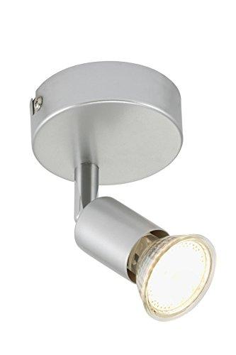Briloner Leuchten 2906-014 plafonnier, Spots, Lampe Salon, Applique LED, orientable, Métal, GU10, 3 W, Titan, 8 x 8 x 8 cm