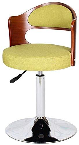 QTQZDD mode draaistoel computer stoel Europese stijl barkruk schommel massief hout terug stoel Ontvangstoelen computer kruk (kleur: groen) 2 2