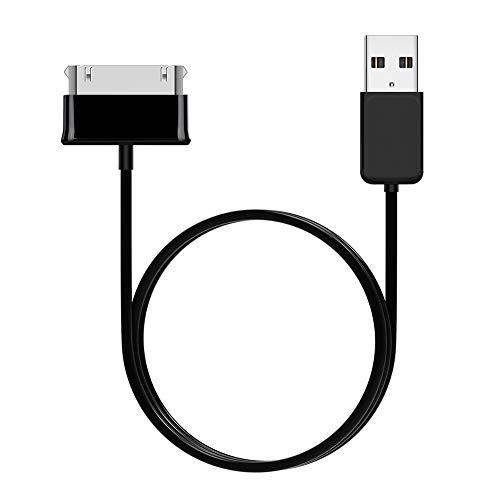 Cable de Datos USB, Cargador de Cable de Datos USB de Carga Segura de 1 m de Largo para Samsung Galaxy Tab 2 10.1 P5100 P7500 7.0 Plus T859, etc.