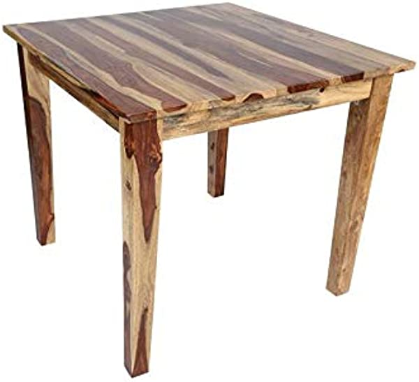 Hawthorne Collections Sante Fe Solid Sheesham Wood Square Counter Height Dining Table