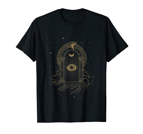 Gates of the Universe with Eye of Dieu and Snake Décoration T-Shirt