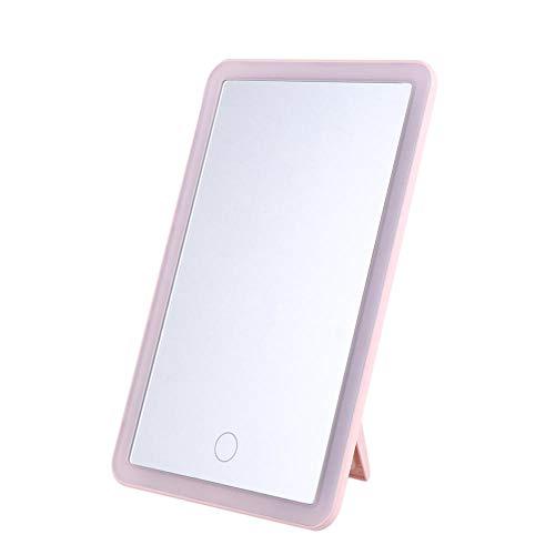 Make-Up Spiegelled Make-Up Spiegel Make-Up Spiegel Desktop Opvouwbare Achterhaakstandaard Cosmetische Spiegel Voor Slaapkamer Garderobe -Roze