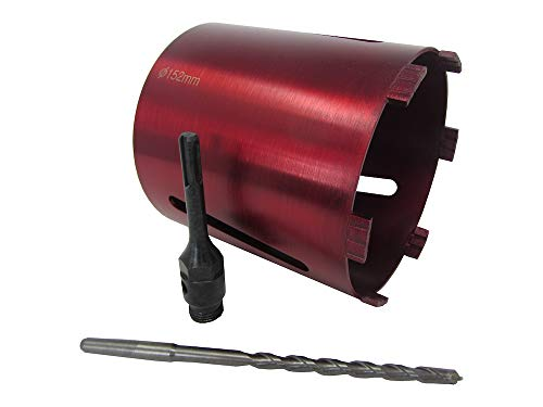152mm 6' Dry Diamond Drilling Core Drill Bit Turbo Segments with SDS Arbour & Drill Bit