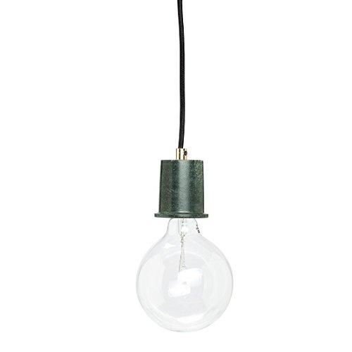 Hübsch Lámpara de techo de mármol, diseño danés, color verde