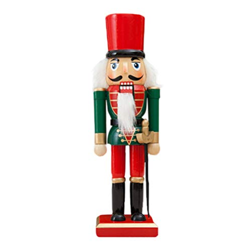 KESYOO 25CM Wooden Walnut Soldier Nutcracker Puppet Soldier Toys (Random Style)