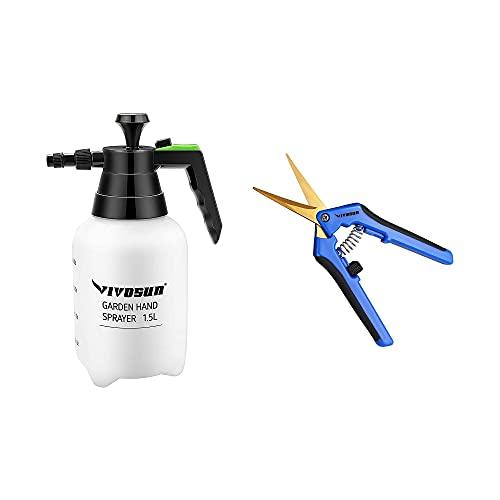 VIVOSUN 1-Pack Gardening Hand Pruner Pruning Shear with Pressure Water Sprayers