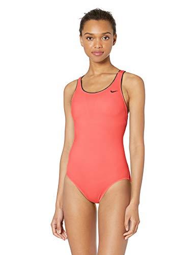 Nike Swim Women's Solid Powerback One Piece Swimsuit, Magic Ember, X Large