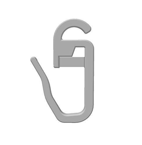 Gardineum 100 Faltenlegehaken/Gardinenhaken (844) mit 3 mm Öse für Flachringe, Chrom matt