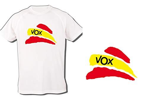 MERCHANDMANIA Camiseta Partido VOX Bandera ESPAÑOLA Tshirt