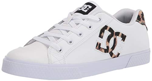 DC Women's Chelsea Low Top Casual Skate Shoe, Leopard Print, 10.5