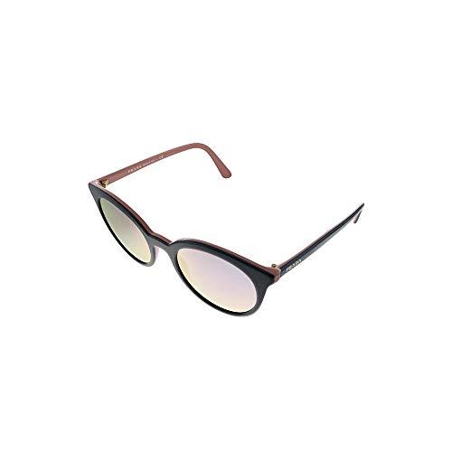 Prada 0PR 02XS Gafas, Parte Superior Negro/Rosa, 53 para Mujer