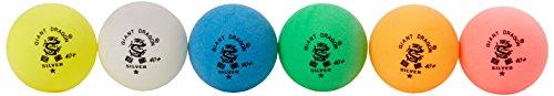Pelotas de Ping Pong Kounga Giant Dragon, colores surtidos (Empaque de 6), Unisex Adulto,...