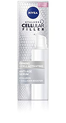 NIVEA Hyaluron Cellular Filler Firming + Cell Activating Anti-Age Serum (40 ml), Moisturising Anti Ageing Cream, Powerful Hyaluronic Acid Anti Aging Face Serum