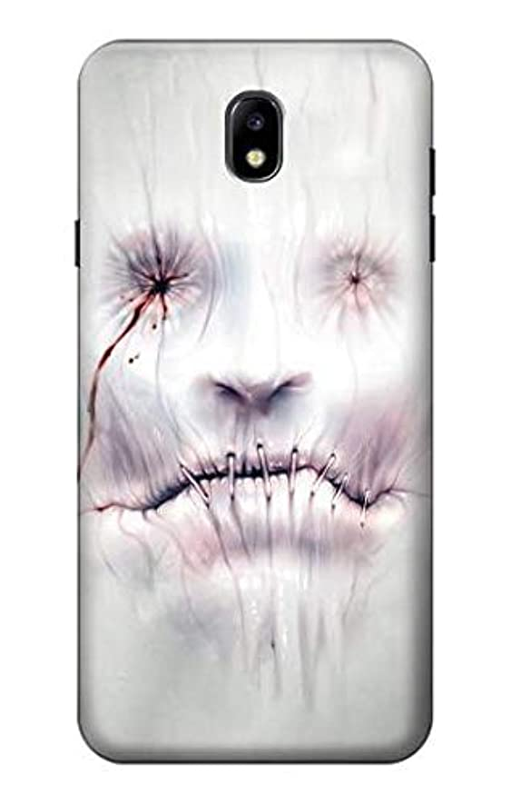 R0884 Horror Face Case Cover for Samsung Galaxy J7 (2018), J7 Aero, J7 Top, J7 Aura, J7 Crown, J7 Refine, J7 Eon, J7 V 2nd Gen, J7 Star