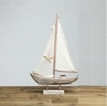 American Wood Sailboat Figurines Saling Ship Home Office Desktop Miniature Marine Sailing Boats Home Decor Crafts Regalos Tamaño 3