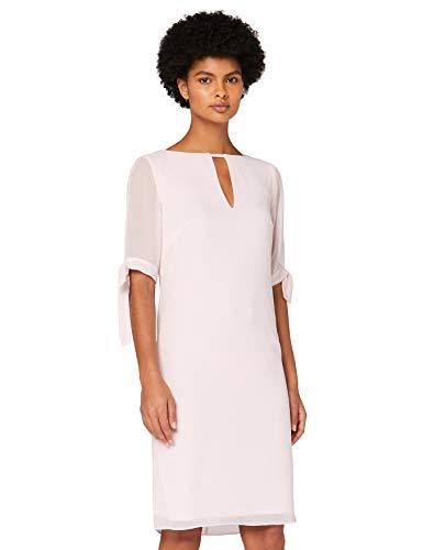 Marchio Amazon - TRUTH & FABLE Vestito A-Line in Chiffon Donna, Rosa (Pink), 46, Label: L
