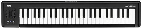 KORG microKEY2 Air 49 Keyboard mit 49 Tasten, schwarz, Bluetooth Controller, MIDI-Keyboard für Musik- bzw. Studioproduktionen