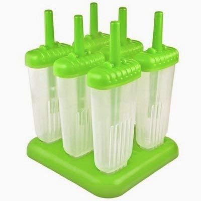 Popsicle moldes fijados - Fabricantes libre de BPA -6 Pop hielo + silicona Embudo cepillo de limpieza de helado