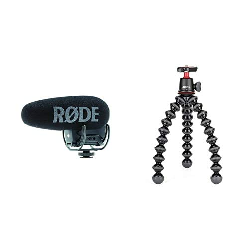 Rode microphones Videomic PRO + Microfono per Camera Digitale -33.6 dB, 2020000 Hz & JOBY Kit GorillaPod 3K Treppiede Leggero Flessibile con Testa a Sfera per Fotocamere DSLR e CSC/Mirrorless