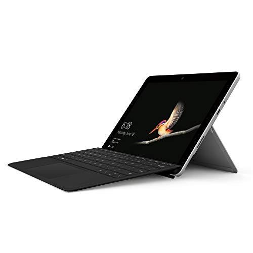 Microsoft Surface Go Tablet, Processore Pentium, 8 GB di RAM, SSD da 128 GB, Grigio + Cover con Tasti Nera [Layout Italiano]
