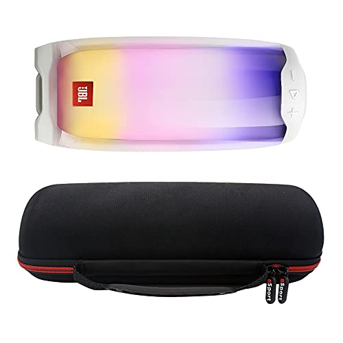 JBL Pulse 4 Waterproof Portable Bluetooth Speaker with 360 Color LED and gSport EVA Case (White)