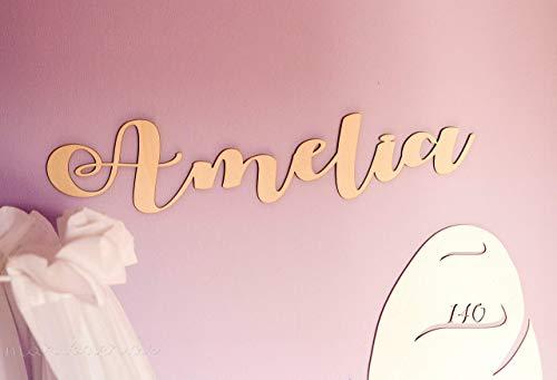 Namensschild aus Holz- unterschiedliche Schriftarten, Individueller Schriftzug - Name - Türschild Kinderzimmer - Geburtsgeschenk - Geschenk zur Geburt