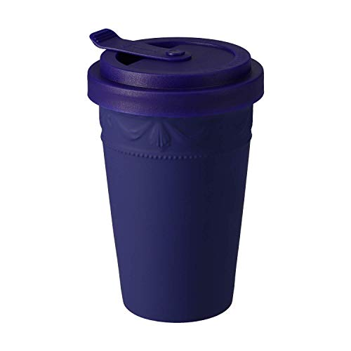 KURLAND to-Go Becher Porzellan von KPM Berlin - Kaffeebecher to-Go - Tee to-Go - Handmade & als Geschenk verpackt - das umweltfreundliche Stil-Statement für Kaffee & Tee - Blau