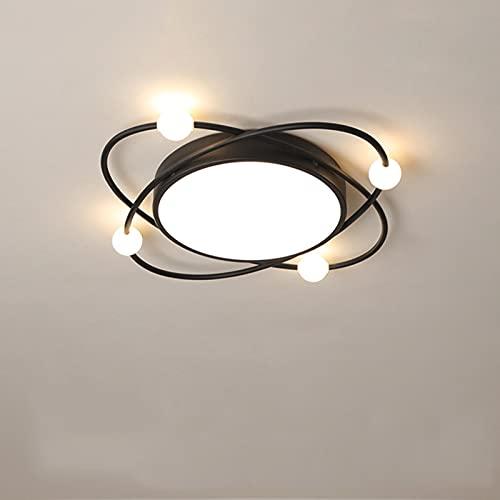 Lámpara de techo, lámpara de techo LED empotrada moderna, lámpara de diseño creativo con fuente de luz regulable de 28 W de 3 colores, utilizada en el pasillo del dormitorio de la sala de estar, 40 cm