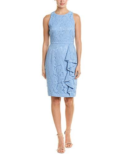 Eliza J Women's Sleeveless Lace Sheath Dress, Blue, 8