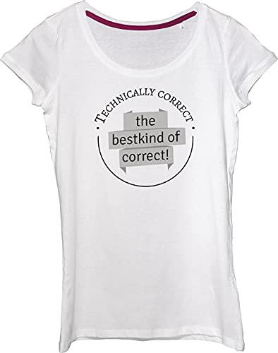 Técnicamente correcta: la mejor camiseta correcta para mujer.