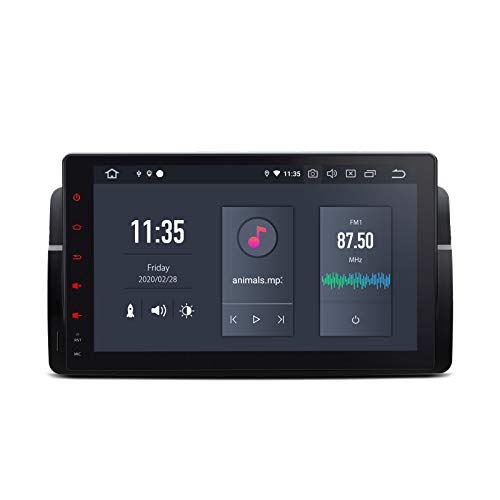 "XTRONS 9"" 6 Core 4GB RAM 64GB ROM Android 10.0 Autoradio mit Touchscreen Hexa Core Auto Multimedia Player Qualcomm Bluetooth 5.0 HDMI Ausgang DAB OBD2 TPMS FÜR BMW/Rover/MG"