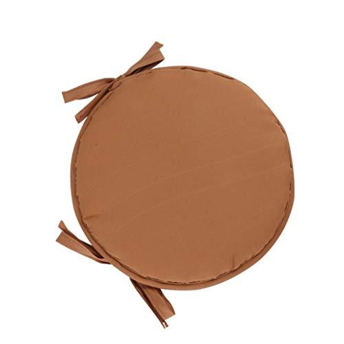 Ainaobaoybz Cojín para el Suelo, Cojines para Silla, Cojín Redondo Silla de Comedor para el hogar Cojín para Oficina Cojín Engrosado, 12'de diámetro (1 Paquete, Naranja) (Color : Brown, Size : 38cm)