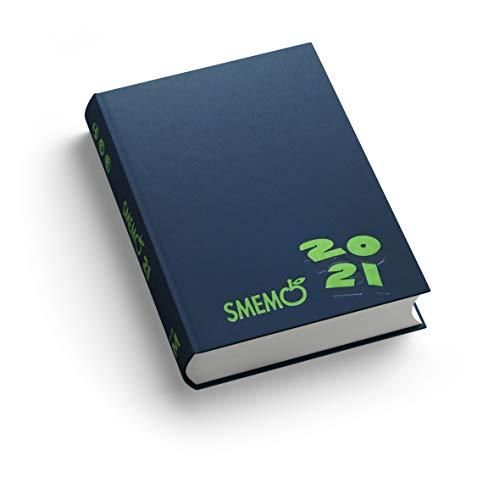 Smemoranda - Diario 2020/2021 16 Mesi, Blu Logo Verde, 13 x 17.7 cm