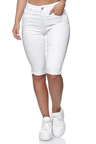 Taglia Produttore: X-Small Bright White Bright White 40 Bianco Donna Vero Moda Vmhot Seven Nw DNM Slit Knicker Mix Noos Pantaloni