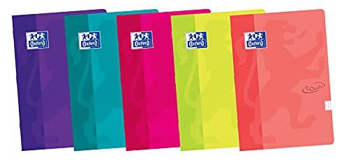 Oxford, Libretas A4 Tapa Blanda, Pack de 10 Unidades, 48 Hojas con Cuadrícula 4x4, Colores Surtidos