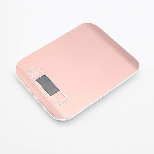 MBLUE Báscula electrónica de Cocina Digital con Pantalla LCD de 10 kg y 1 g Oro Rosa
