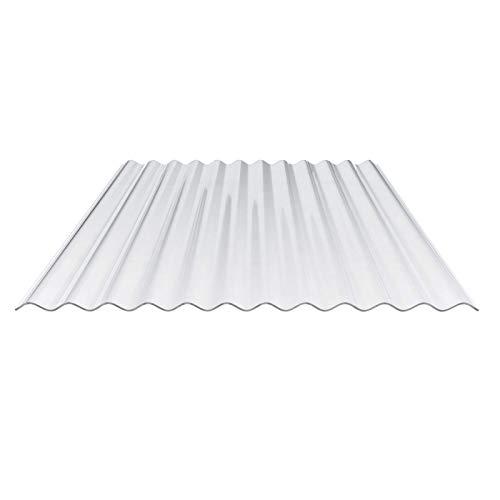 Lichtplatte | Wellplatte | Lichtwellplatte | Profil 76/18 | Material Polycarbonat | Breite 900 mm | Stärke 0,65 mm | Farbe Glasklar