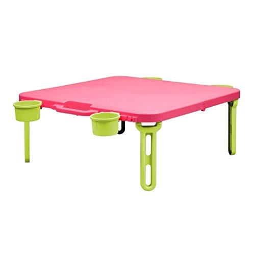 RLY Klapptisch, Bett Klapptisch, Leuchttisch, Outdoor-Haushalt Tragbaren Tisch, Einfach (Color : Pink)