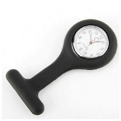 Be-Creative - Reloj de pulsera para enfermería (cierre de silicona, B3), Hora de Navidad, negro, 1 meters