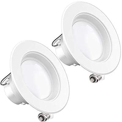 Sunco Lighting 2 Pack 4 Inch LED Recessed Downlight, Baffle Trim, Dimmable, 11W=60W, 2700K Soft White, 660 LM, Damp Rated, Simple Retrofit Installation - UL + Energy Star