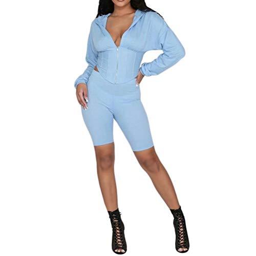 light blue sweatshirt for women - 8