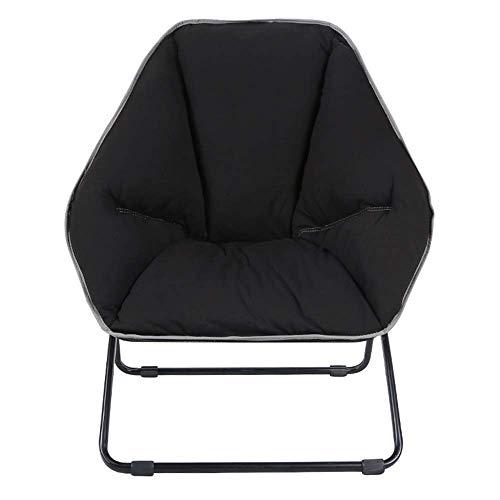 ZLININ Silla Silla plegable hexagonal perezoso sofá individual tela de los asientos de la sala al aire libre Silla de oficina portátil 71 × 82 × 89cm