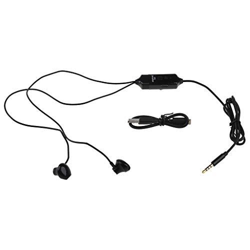 Huiingwen - Grabador de llamadas telefónicas (auriculares in-ear, para accesorios de juegos deportivos), color negro